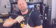 how to change strings with gotoh locking tuners and floyd rose